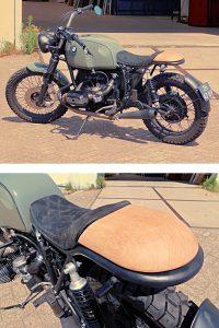 met CNC frees gemaakt houten motorzadel